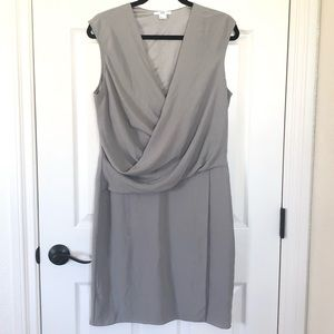 NWOT Helmet Lang gray faux wrap dress size large